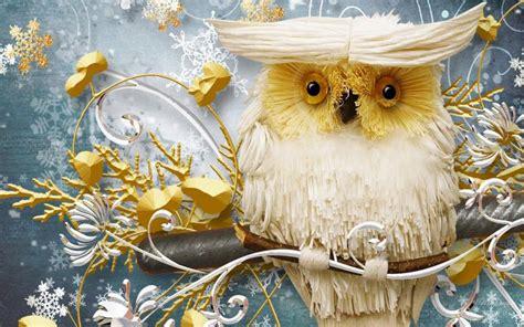 hd wise winter owl wallpaper