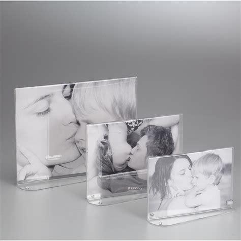 cornici plexiglass portafoto in plexiglas orizzontale bifacciale strass o per