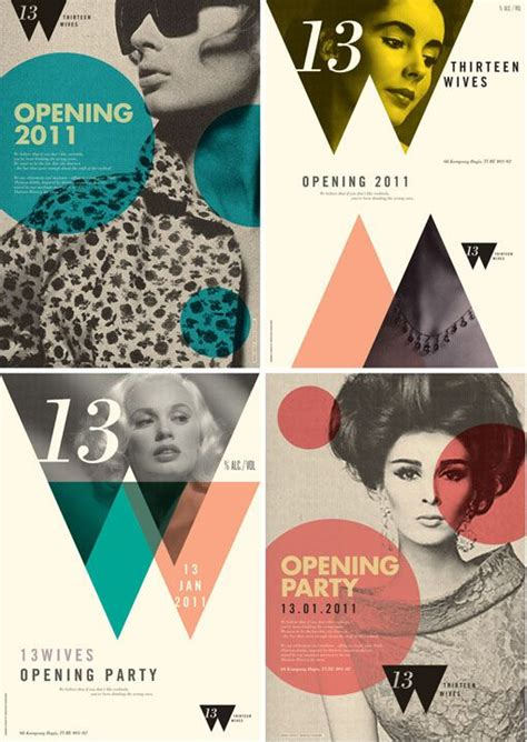 design poster colour pretty layout geometry magazine design inspiration