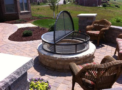 Firepit Cover Outdoor Sculpture Furniture Prairie Metal Wi