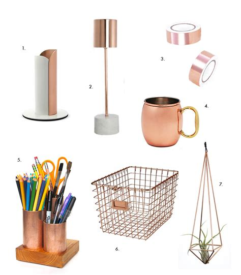 Home Office Accessories by Creative Home Office Ideas Copper Desk Accessories