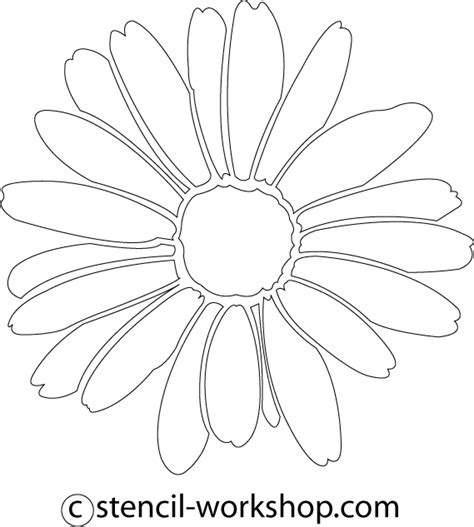 printable daisy stencils 8 best images of printable daisy stencil template daisy