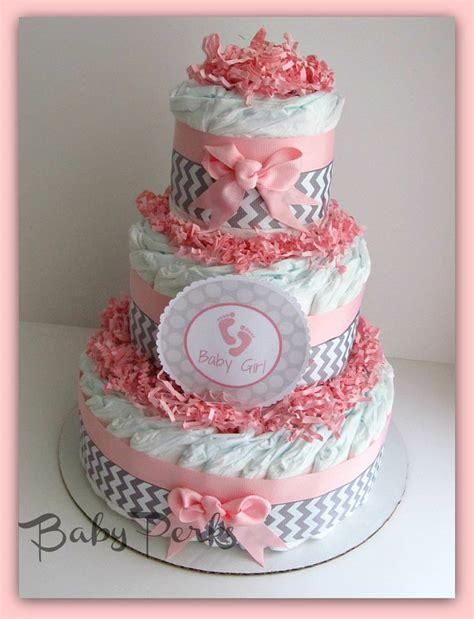 Pink And Grey Chevron Baby Shower Decorations by Pink And Grey Baby Shower Baby Shower Cake By Msperks