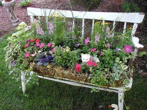flower garden bench flower bench gardening outdoor design pinterest