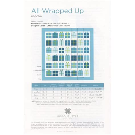 quilt pattern all wrapped up all wrapped up quilt pattern sku pat891 missouri star