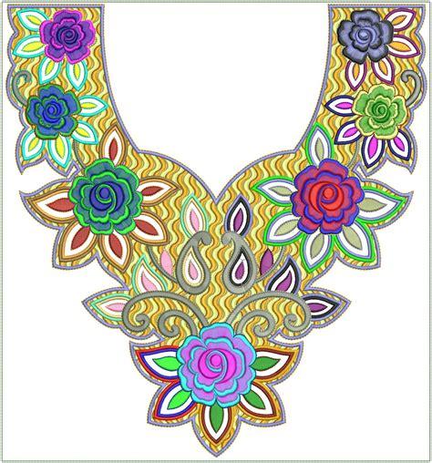 Umama Organza Premium Motif 3 embdesigntube arabian neck 2012 for embroidered fabric