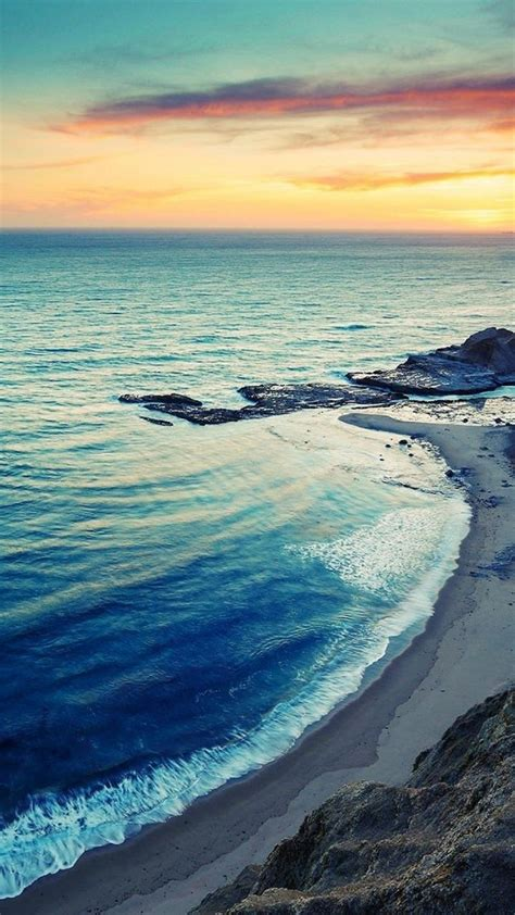 wallpaper for android beach sunrise beach seaside coast android wallpaper free download
