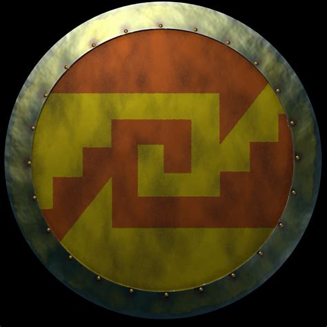 aztec warrior with marine corps emblem on his shield by pictures of aztec shields impremedia net