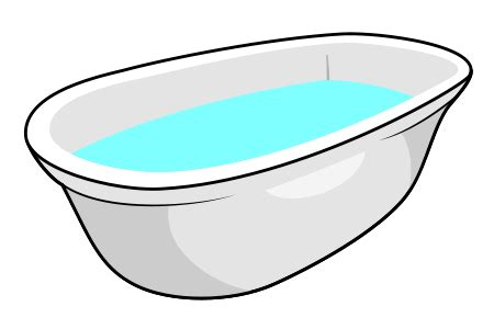 cartoon bathtub drawing a cartoon bathtub