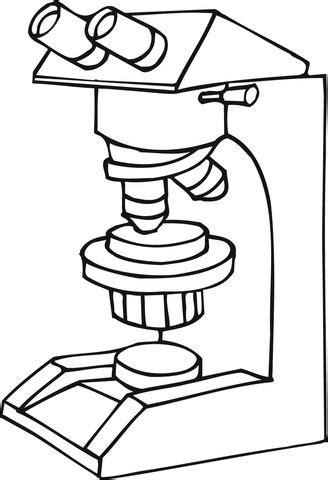 Microscópio trabalhando Página para colorir | Páginas para