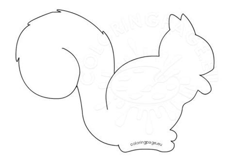 squirrel template animal coloring page