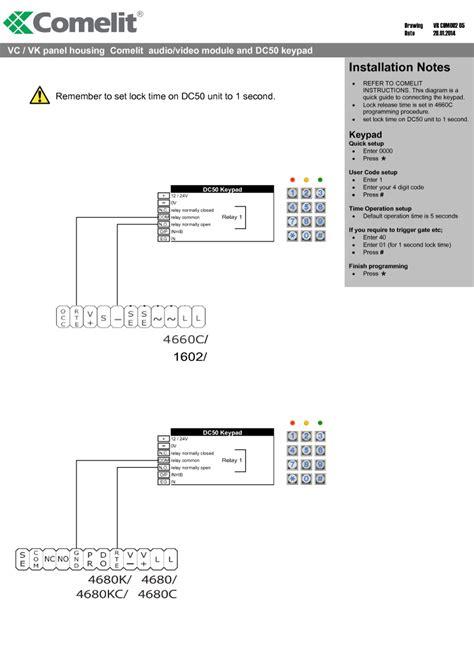 comelit 1602 wiring diagram 27 wiring diagram images