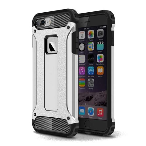 Iphone 7 7s Plus Dual Tough Armor Xphase Army Cover iphone 7 plus hybrid dual layer tough armor silver pdair 10