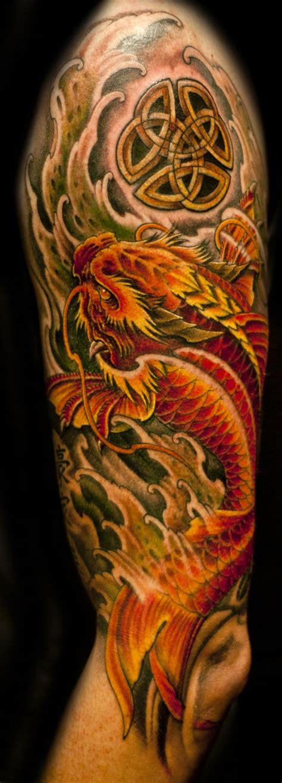 dragon koi tattoo chronic ink