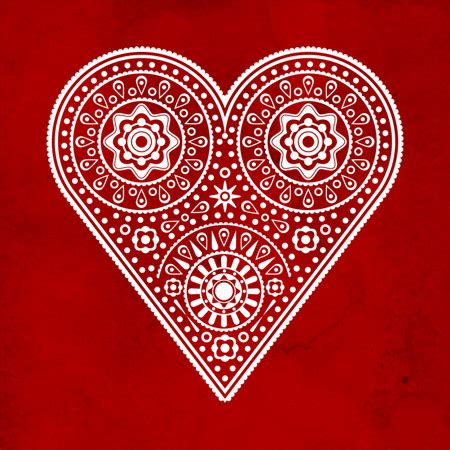 illustrator pattern to outline how to create an intricate vector heart illustration