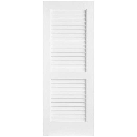 Louvered Doors Home Depot Interior Masonite 32 In X 80 In Plantation Smooth Louver Solid Primed Composite Single