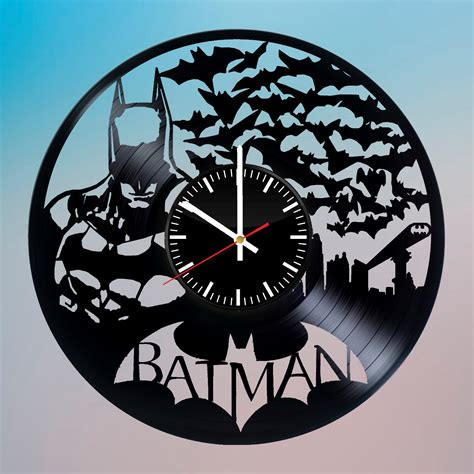 Wall Clock Handmade - batman handmade vinyl record wall clock fan gift vinyl