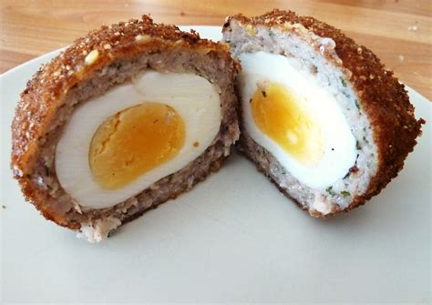 Handmade Scotch Eggs - made scotch eggs