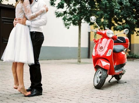 Wedding Vespa by A Touch Of Pre Wedding Shoot