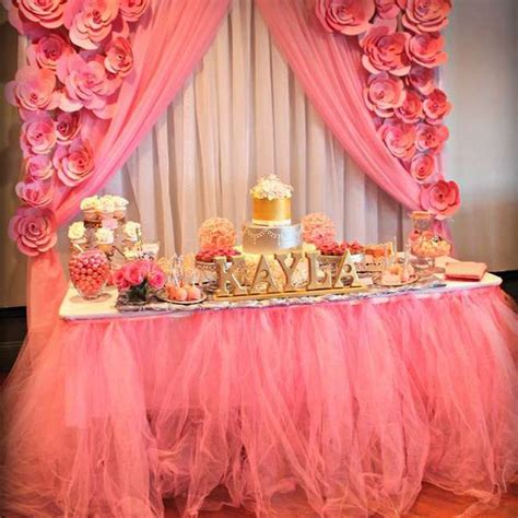 Diy Tutu Table Gorgeous Decorating by Shopzters Diy Buffet Table Decor Ideas