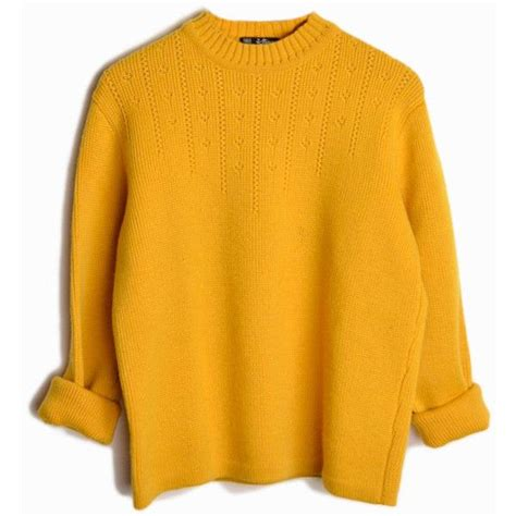 mustard color sweater best 25 yellow sweater ideas on yellow