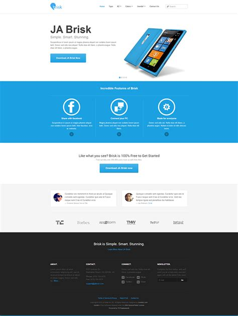 joomla 3 0 responsive templates brisk responsive template for joomla 3 0 on behance