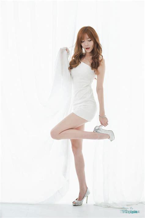 mini dress models choi seul ki white mini dress