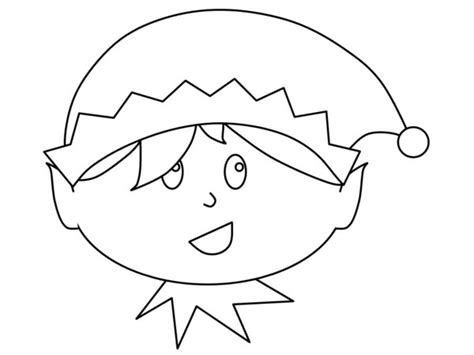 printable elf face template little boy christmas elf print coloring pages free