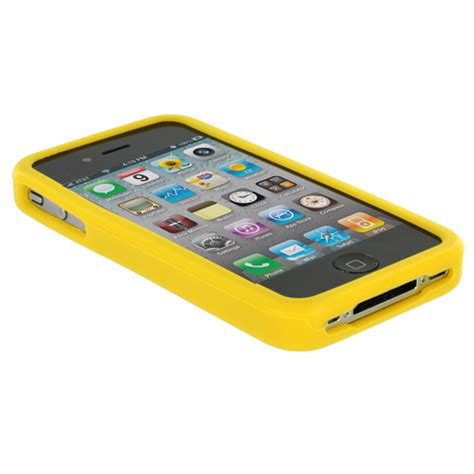 Silicone For Iphone 4 4s Berkualitas color silicone rubber gel skin cover accessory for