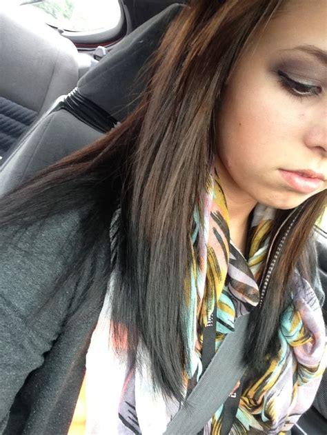 reverse ombre brown  black dye  hair hair flip