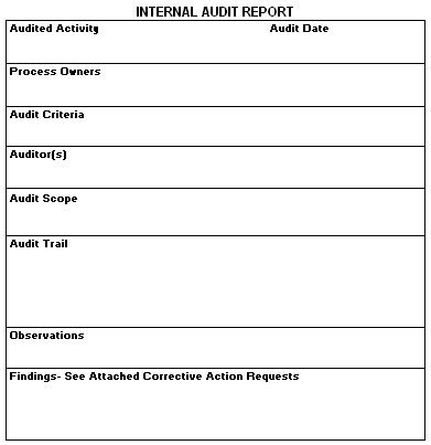 audit report template iso 9001 audit report