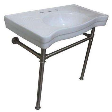 bathroom console sink metal legs console sinks bathroom sinks the home depot