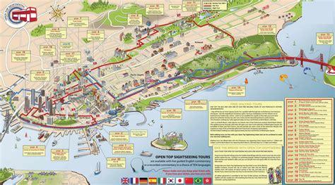 san francisco route map grande visite en hop on hop san francisco et 238 le