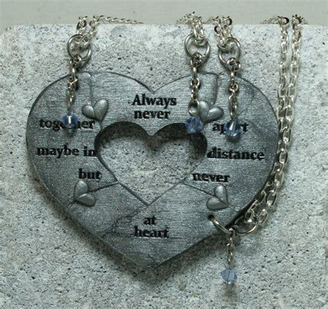 4 friendship necklaces apart from