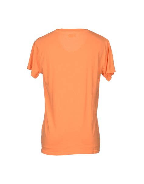 Cheap T Shirts Cheap Monday T Shirt In Orange For Lyst