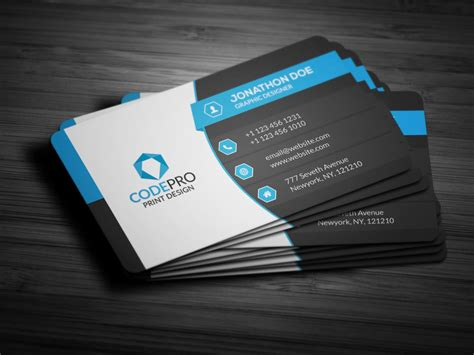 28 corporate business card templates cool blue