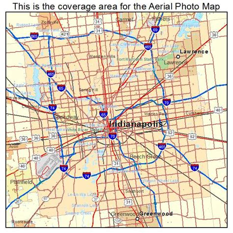 maps of indiana aerial photography map of indianapolis city in indiana