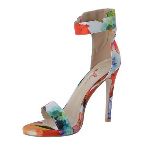 High Heels Murah Ad 19 Terbaru womens high stiletto heel floral strappy sandals ankle shoes size ebay