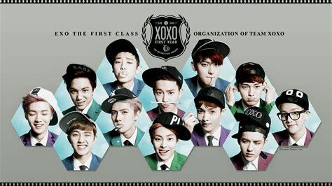exo xoxo wallpaper hd exo 1st album xoxo kiss hug color ver wallpaper by
