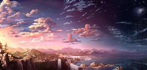 anime landscape wallpaper hd wallpaperwiki