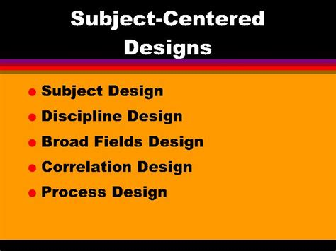 design is subjective subject centered designs