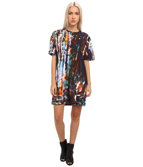 Blorry Dress lyst mcq blurry lightsco tshirt dress