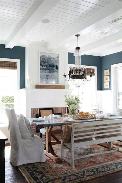 Dining Room Rugs Blue Cottage The Inspired Room