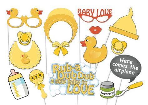 free printable duck dynasty photo booth props rubber ducky baby shower photobooth party props set 16