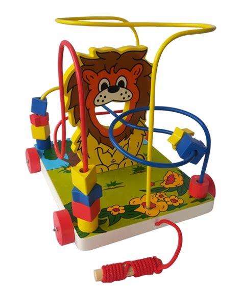 Papan Tulis Anak Karakter Gajah alur kawat 3 karakter singa mainan kayu