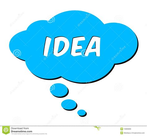 idea plans idea in thought bubble stock illustration image of blue