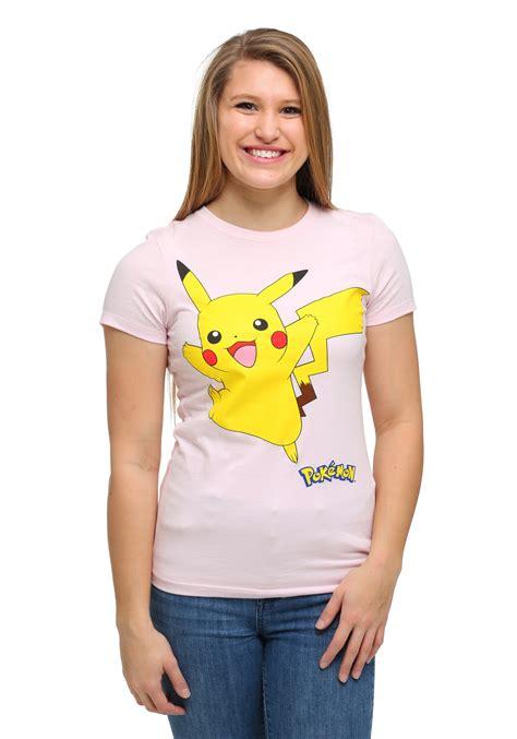 Tshirt Junior Kry pikachu smile walk womens t shirt