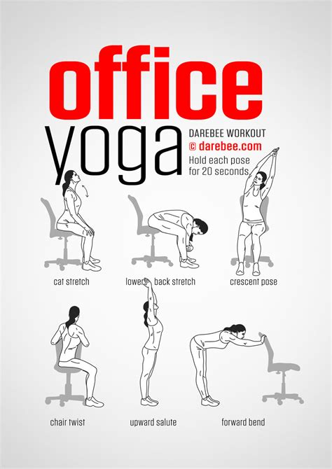 Workouts At Your Desk Office Yoga Workout