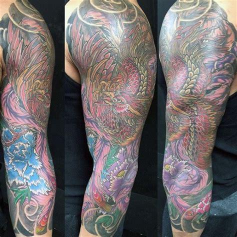 japanese phoenix tattoo half sleeve 50 japanese phoenix tattoo designs for men mythical ink