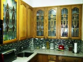 Leaded Glass Kitchen Cabinet Doors Kitchen Design Inspiring Stained Glass Kitchen Cabinet